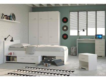 Parisot Jugendzimmer-Set Galaxy, (Set, 4 tlg.) Einheitsgröße weiß Kinder Komplett-Jugendzimmer Jugendmöbel Kindermöbel Schlafzimmermöbel-Sets