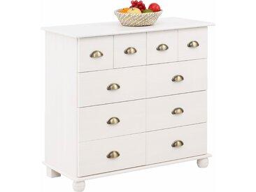 Home affaire Kommode Anoushka, wahlweise mit 5, 10, 12 oder 15 Schubladen B/H/T: 91 cm x 83 42 cm, Anzahl Schubladen: 10 weiß Schubladenkommoden Kommoden Sideboards