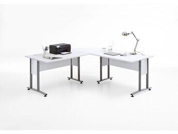FMD Eckschreibtisch Calvi B/H/T: 200 cm x 75 weiß Eckschreibtische Bürotische und Schreibtische Büromöbel
