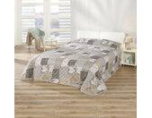 Delindo Lifestyle Tagesdecke Herzen, in Patchwork-Optik mit Herzen B/L: 240 cm x 260 braun Kunstfaserdecken Decken
