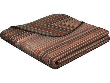 BIEDERLACK Wohndecke Lost Thread, hergestellt aus einem Materialmix B/L: 150 cm x 200 braun Baumwolldecken Decken