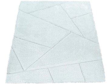 Paco Home Hochflor-Teppich Palma 334, rechteckig, 45 mm Höhe, Hochflor-Shaggy mit 3D-Muster, Wohnzimmer B/L: 240 cm x 330 cm, 1 St. weiß Schlafzimmerteppiche Teppiche nach Räumen