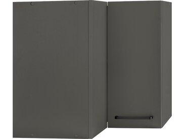 wiho Küchen Eckhängeschrank Esbo 60 x 56,5 35 (B H T) cm, 2-türig grau Hängeschränke Küchenschränke Küchenmöbel Schränke