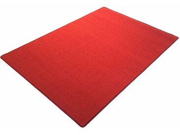Living Line Sisalteppich Trumpf, rechteckig, 6 mm Höhe, Obermaterial: 100% Sisal, Wohnzimmer B/L: 300 cm x 400 cm, 1 St. rot Esszimmerteppiche Teppiche nach Räumen