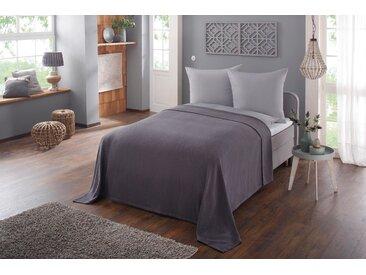 Home affaire Tagesdecke Nora, auch als Sofaüberwurf verwendbar B/L: 140 cm x 210 grau Baumwolldecken Decken