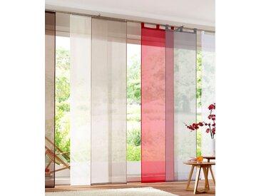 my home Schiebegardine Xanten, inkl. Beschwerungsstangen, transparent, Breite: 57 cm 265 cm, Schlaufen, braun Wohnzimmergardinen Gardinen nach Räumen Vorhänge