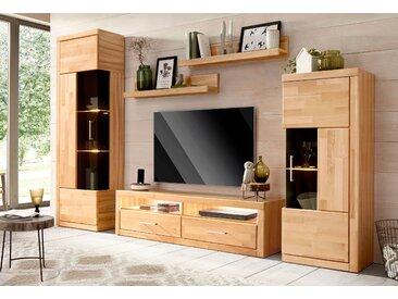 Wohnwand (Set, 5-tlg) Einheitsgröße beige Holz Wohnwände Schränke Kastenmöbel-Sets