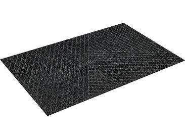 wash+dry by Kleen-Tex Fußmatte Stripes, rechteckig, 8 mm Höhe, Schmutzfangmatte, In- und Outdoor geeignet, waschbar B/L: 45 cm x 75 cm, 1 St. grau Schmutzfangläufer Läufer Bettumrandungen Teppiche
