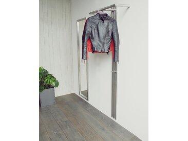 Spinder Design Garderobe SENZA 65x28x190 cm silberfarben Wandgarderoben Garderoben Garderobenpaneele