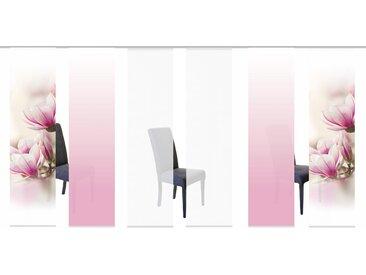 Schiebegardine, MAGNONE, HOME WOHNIDEEN, Klettband 6 Stück H/B: 245/60 cm, blickdicht, rosa Blickdichte Vorhänge Gardinen Gardine