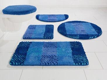 Badematte VENJA, my home, Höhe 20 mm, fußbodenheizungsgeeignet 3, rechteckig 60x100 cm, mm blau Gemusterte Badematten