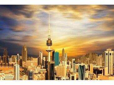 queence Acrylglasbild Skyline B/H/T: 150 cm x 100 2,4 orange Acrylglasbilder Bilder Bilderrahmen Wohnaccessoires