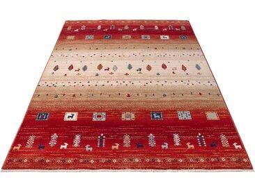 Home affaire Teppich Mavie, rechteckig, 10 mm Höhe, Berber-Optik, Wohnzimmer B/L: 200 cm x 300 cm, 1 St. rot Schlafzimmerteppiche Teppiche nach Räumen
