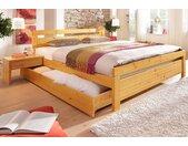 Home affaire Massivholzbett Capri Liegefläche B/L: 140 cm x 200 cm, kein Härtegrad gelb Doppelbetten Betten