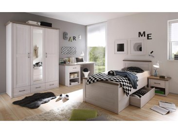 Jugendzimmer-Set Luca, (Set, 4 tlg.) Einheitsgröße weiß Kinder Komplett-Jugendzimmer Jugendmöbel Kindermöbel