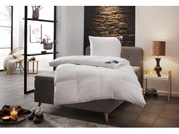 SPESSARTTRAUM Daunenbettdecke Exklusiv, polarwarm, Füllung 100% Daunen, Bezug Baumwolle, (1 St.) weiß, 200x220 cm, Premium weiß Allergiker Bettdecke Bettdecken Bettdecken, Kopfkissen Unterbetten