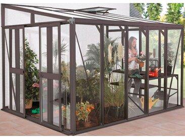 Vitavia Stabilisierungsprofil Helena 11900, für Anlehngewächshaus 11900/4, pulverbeschichtet Einheitsgröße grau Zubehör Gewächshäuser Garten Balkon