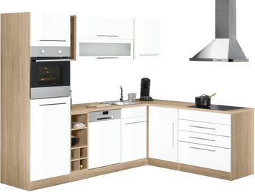 HELD MÖBEL Winkelküche Eton, ohne E-Geräte, Stellbreite 260 x 190 cm Einheitsgröße weiß L-Küchen Küchenzeilen -blöcke Küchenmöbel Arbeitsmöbel-Sets