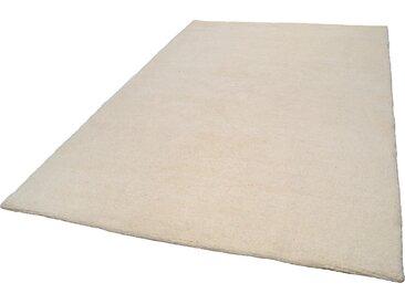 THEKO Wollteppich Tanger 1, rechteckig, 20 mm Höhe, reine Wolle, echter Berber, naturbelassene handgeknüpft, Wohnzimmer 3, 120x180 cm, weiß Schlafzimmerteppiche Teppiche nach Räumen