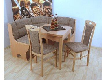 Sitzbank Madrid, (4-tlg.) Einheitsgröße beige Eckbänke Sitzbänke Stühle