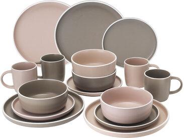 andas Kombiservice SKIVE, (Set, 16 tlg.), Scandic-Style Einheitsgröße rosa Geschirr-Sets Geschirr, Porzellan Tischaccessoires Haushaltswaren