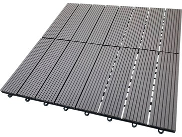 HOME DELUXE Terrassenplatten, WPC-Fliesen B/L: 30 cm x braun Fliesen Bodenbeläge Bauen Renovieren Terrassenplatten