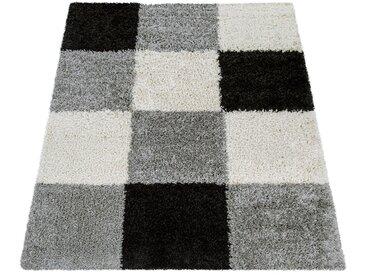 Hochflor-Teppich, Mango 316, Paco Home, rechteckig, Höhe 35 mm, maschinell gewebt 300x400 cm, mm schwarz Moderne Teppiche