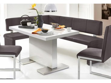 Homexperts Eckbank, (1 St.) B/H/T: 214 cm x 83 149 cm, Kunstleder, Schenkelmaße 149/194 braun Eckbänke Sitzbänke Stühle Eckbank