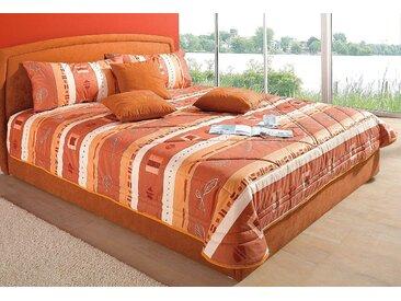 Tagesdecke Westfalia Schlafkomfort 235x225 cm, Polyester orange Tagesdecken Decken