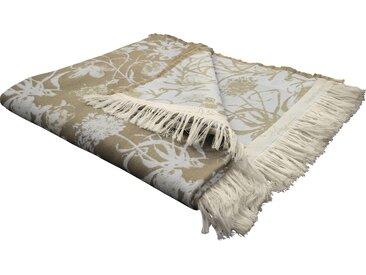 Wohndecke Flower Cuvée, Adam 145x190 cm, Baumwolle beige Baumwolldecken Decken Wohndecken