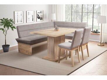 Eckbankgruppe Beluna (4-tlg) langer Schenkel links grau Eckbänke Sitzbänke Stühle Sitzmöbel-Sets