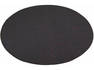 Living Line Sisalteppich Trumpf, rund, 6 mm Höhe, Obermaterial: 100% Sisal, Wohnzimmer 43 (Ø 240 cm), schwarz Runde Teppiche Weitere