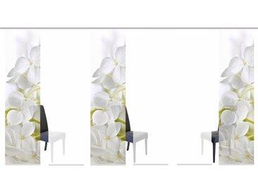 Schiebegardine, PADUA, HOME WOHNIDEEN, Klettband 6 Stück H/B: 245/60 cm, blickdicht, weiß Blickdichte Vorhänge Gardinen Gardine