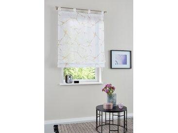 my home Raffrollo Fulda, mit Schlaufen 140 cm, Schlaufen, 45 cm beige Wohnzimmergardinen Gardinen nach Räumen Vorhänge
