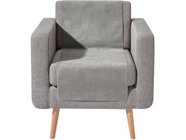 Wohnprogramm 1 45x150 cm, Sessel oder Sofaläufer silberfarben Sesselschoner Hussen Überwürfe