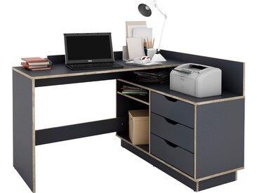 Homexperts Eckschreibtisch Baltasar Tischplatte: Holzwerkstoff, Gestell: 127x50 cm, Ecklösung rechts und links montierbar braun Eckschreibtische Bürotische Schreibtische Büromöbel Tisch