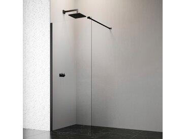 welltime by GEO Walk-in-Dusche, 90 cm, schwarz B/H: 86,5 cm x 200 Duschwände Duschen Bad Sanitär Walk-in-Dusche