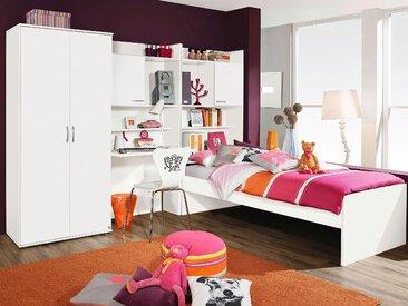 rauch BLUE Jugendzimmer-Set Emilio, (Set, 4 tlg.) Mit 2-trg. Kleiderschrank weiß Kinder Komplett-Kinderzimmer Kindermöbel Schlafzimmermöbel-Sets