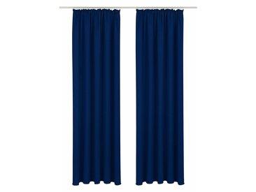 Vorhang, Lagan, Bruno Banani, Kräuselband 2 Stück 5, H/B: 265/140 cm, blickdicht, blau Blickdichte Vorhänge Gardinen Gardine