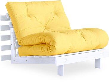 Karup Design Schlafsofa Roots 90 cm, Gestell weiß gelb Schlafsofas Sofas Couches