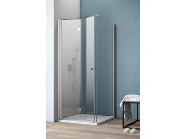 maw Eckdusche AF400, mit Falttür Einheitsgröße silberfarben Duschkabinen Duschen Bad Sanitär