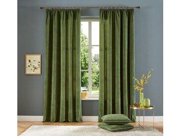 Vorhang, Brighton, Home affaire, Kräuselband 2 Stück 4, H/B: 245/140 cm, blickdicht, grün Blickdichte Vorhänge Gardinen Gardine