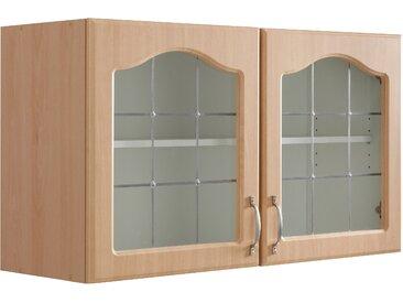 wiho Küchen Glashängeschrank Linz 100 x 56,5 35 (B H T) cm beige Hängeschränke Küchenschränke Küchenmöbel Schränke
