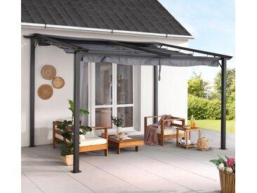 KONIFERA Anbaupavillon Vivara, BxT: 300x400 cm B/T: 300 x 400 grau Anbaupavillons Pavillons Garten Balkon