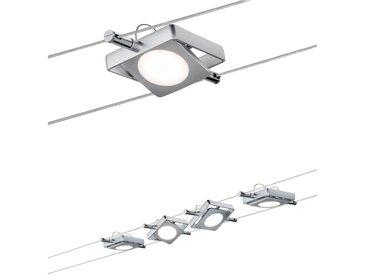 Paulmann,LED Deckenleuchte Smart Seilleuchte MacLED 4x4W DC Chrom matt mit Weißlichtsteuerung 0, 4 -flg. / silberfarben Deckenleuchten Lampen und Leuchten