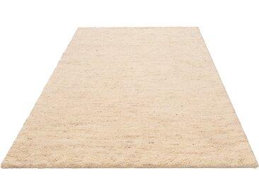 Wollteppich, Mohan, DELAVITA, rechteckig, Höhe 25 mm, manuell geknüpft 4, 170x240 cm, mm beige Shaggy-Teppiche Hochflor-Teppiche Teppiche
