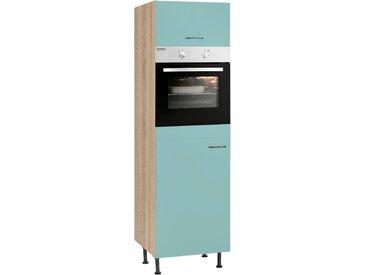 OPTIFIT Backofen/Kühlumbauschrank Elga, mit Soft-Close-Funktion, höhenverstellbaren Füßen und Metallgriffen, Breite 60 cm B/H/T: x 211,8 58,4 cm, 1 grün Umbauschränke Küchenschränke Küchenmöbel