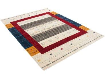 Wollteppich, Gabbeh Sofia, carpetfine, rechteckig, Höhe 15 mm, handgewebt 120x170 cm, mm beige Schurwollteppiche Naturteppiche Teppiche
