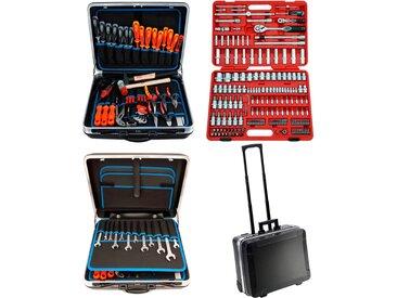FAMEX Werkzeugset 604-20, (Set, 302 St.), im Werkzeugkoffer 44 x 50 27 cm schwarz Werkzeug Maschinen