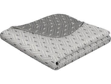 BIEDERLACK Wohndecke Network, moderne Stoffmusteroptik B/L: 220 cm x 240 grau Baumwolldecken Decken